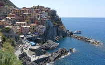 Manarola Italy from a nearby hill