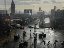 Manchester in the rain Photo by Simon Buckley