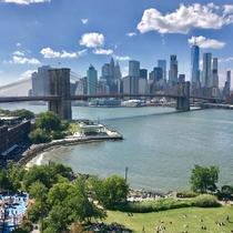Manhattan and Brooklyn bridge from Manhattan bridge Not very popular but a very good view Bring earplugs