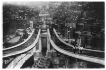 Manhattan Bridge Construction Circa