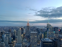 Manhattan New York City USA - as seen from the Top of the Rock Last night