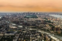 Manhattan seen from a helicopter