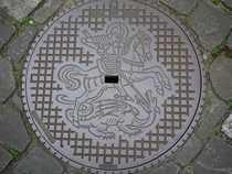 Manhole cover in Stein am Rhine