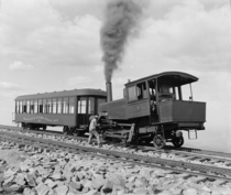Manitou and Pikes Peak Railway cog train circa   rHI_Res link in comments