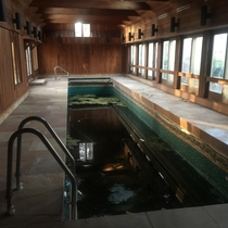 Mansion In Old Field New York Abandoned For  Years - Indoor Pool Lane