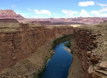 Marble Canyon Arizona as taken from the Navajo Bridge on US HWY A