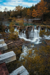 Marble Falls at Dogpatch USA an abandoned theme park in Arkansas closed since