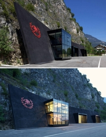 Margreid fire department building in Italy