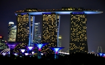 Marina Bay Sands - from garden by the bay in Singapore