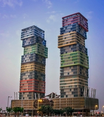 Marina Twin Towers in Marina Lusail Qatar Design Architect E-Square Architects