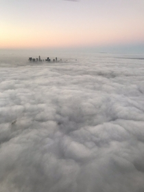 Marine layer in Los Angeles California