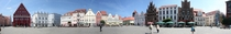 Market square of Greifswald Northern Germany Brick Gothic Town houses