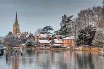 Marlow England coated in snow photographed by Lumenoid