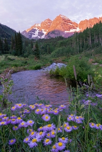 Maroon Bells at Dawn CO USA