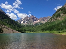 Maroon Bells Colorado Look for the moose