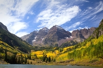 Maroon Bells in September - Aspen CO