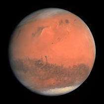Mars as seen by Rosseta during a gravity assist