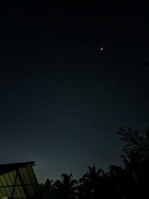Mars at opposition seen from my terrace