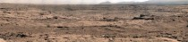 Mars Curiosity Rovers Panoramic View of a site called Rocknest