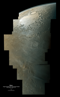 Mars from orbit - Argyre Planitia to Thaumasia Fossae  by Daniel Machhek