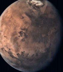 Mars full disc view from MOM Mangalyaan taken by the Mars Colour Camera aboard