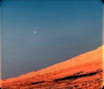 Mars Moon Phobos Seen At Martian Twilight