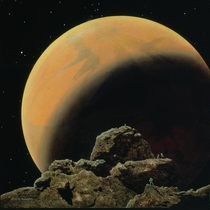 Mars seen from Phobos by Chesley Bonestell