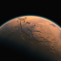 Mars with atmosphere