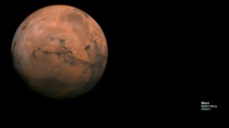 Mars Zoom Background with a compilation of images captured by NASAs Viking Orbiter