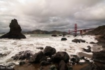 Marshall Beach and Golden Gate Bridge before storm SF OC X