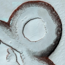Martian landscape The images is taken in Feb   km above the surface of Mars Credit NASA MRO HiRISE
