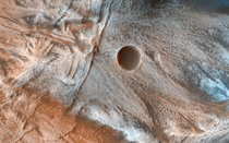 Martian landscape This is an image of viscous lobate flow features that are commonly found on Mars