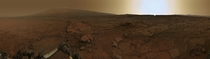 Martian Sunset by NASAs Curiosity Rover