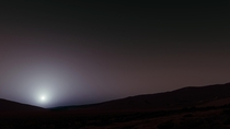 Martian Sunset Rendering -