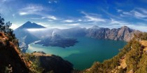 Marvelous shot of the Rinjani mountain