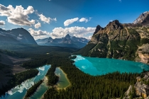 Mary Lake and Lake OHara in Yoho National Park British Columbia Canada  by Christian Thamm