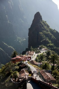 Masca - former pirate village hidden in mountains of Tenerife Canary Islands