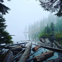 Mason lake in the Alpine Lakes Wilderness Washington State USA