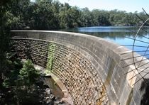 Masonry arch wall Parramatta New South Wales the first engineered dam built in Australia