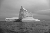 Massive iceberg floating in Disko Bay Illulisat Greenland