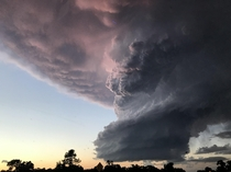 Massive slowly rotating thundercloud near Redding CA on