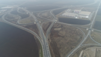 Massive spaghetti interchange near Turda Romania - connecting highways A A amp DN