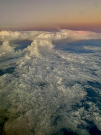 Massive thunderhead over Southern Mexico as viewed from the air Sparks were flying