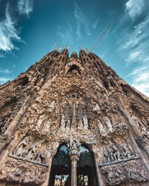 Masterpiece in construction forever Sagrada Familia Barcelona by Gaud
