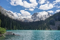 Matier Glacier and Middle Joffre Lake in British Columbia Canada