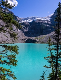 Matier glacier melting into Upper Joffre Lake BC Canada