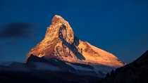 Matterhorn kissed by the early morning sun