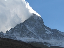 MatterHorn with Clouds back in October