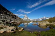 Matterhorn with Riffelsee Switzerland