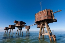 Maunsell Sea Forts England Built during WWII by Britain to defend against Air and Naval raids from German forces
